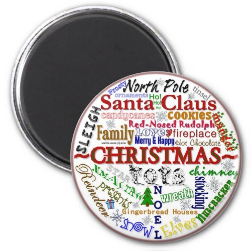 Christmas Word-Art - Magnet