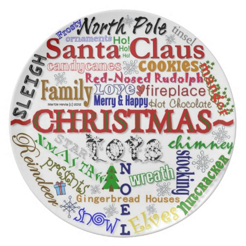 Christmas Word-Art - Plate