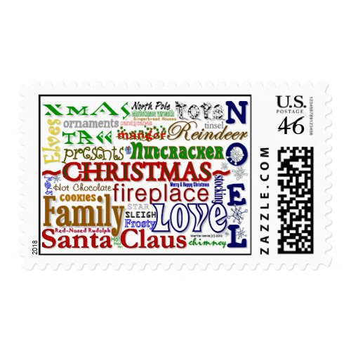 Christmas Word-Art - Postage