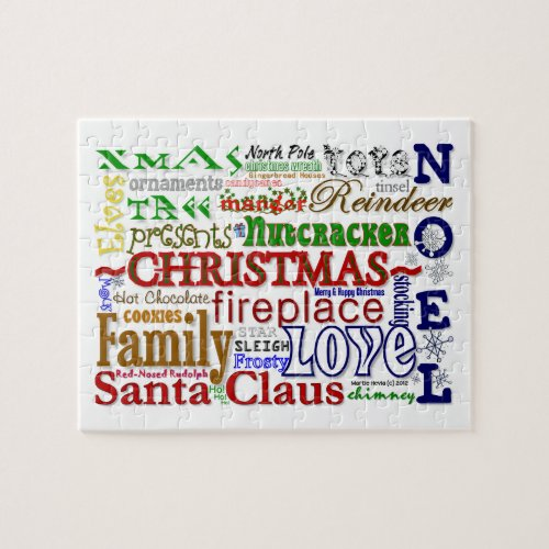 Christmas Word-Art Puzzle