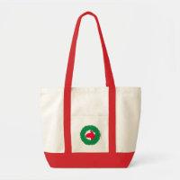 Christmas Wreath & Llama Christmas Card and more Tote Bag