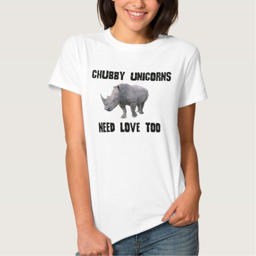 Download CHUBBY UNICORNS NEED LOVE TOO RHINO HUMOR T SHIRT | Zazzle