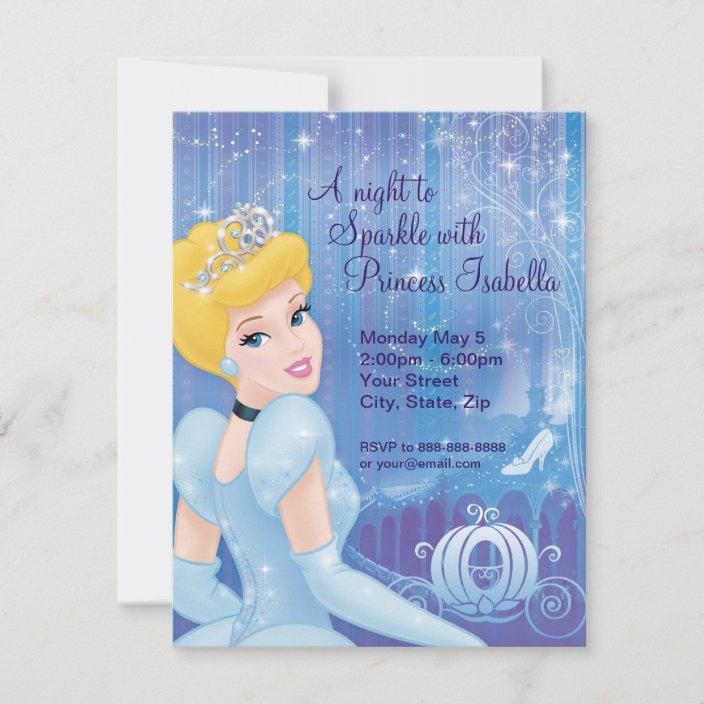 cinderella birthday invitation zazzle com