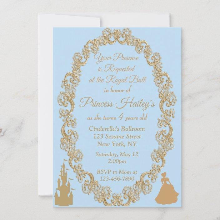 cinderella birthday party invitation zazzle com
