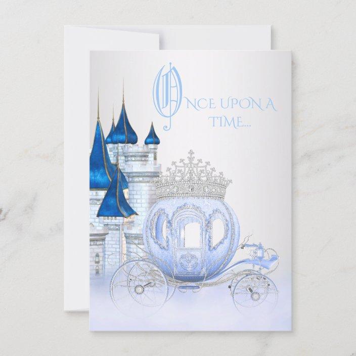 cinderella princess birthday invitation zazzle com