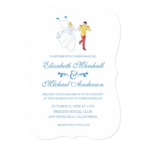 Cinderella Wedding | Cinderella &amp&#x3B; Prince Charming Invitation