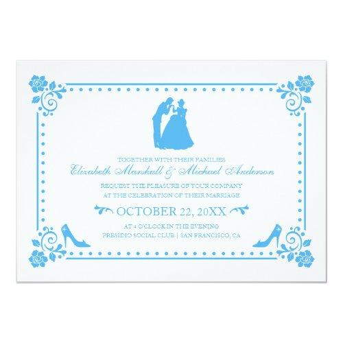 Cinderella Wedding | Silhouette &amp&#x3B; Flowers Invite