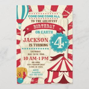 carnival birthday invitations zazzle