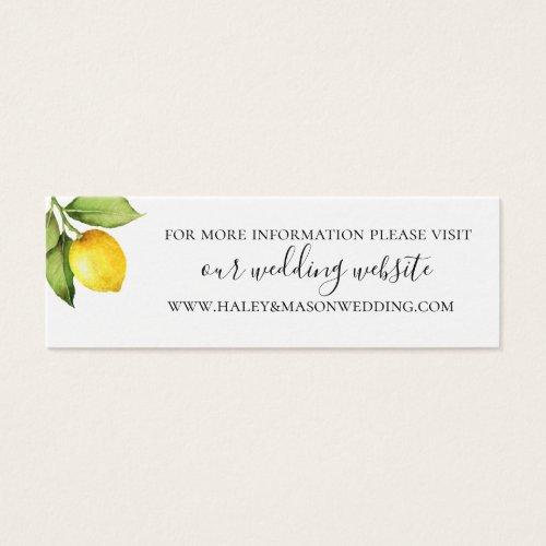 Citrus Orchard Wedding Website