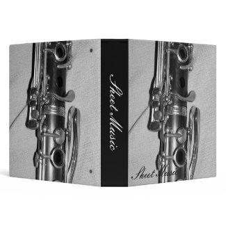 Clarinet Sheet Music Binder binder