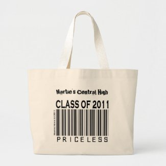 Class of 2011: Priceless - Tote Bag (Personalize) bag