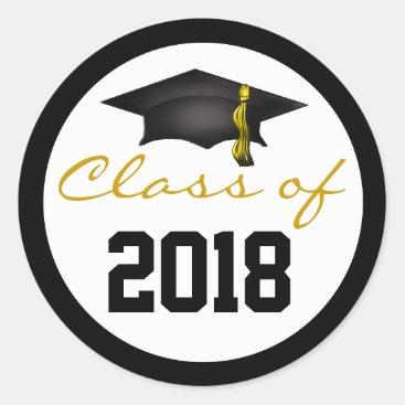 Class of 2018 Graduation Cap Classic Round Sticker
