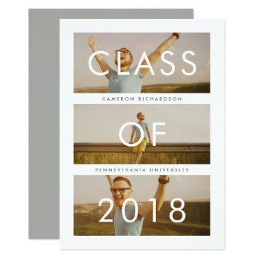 Class of 2018 | Three Photo Graduation Party Card