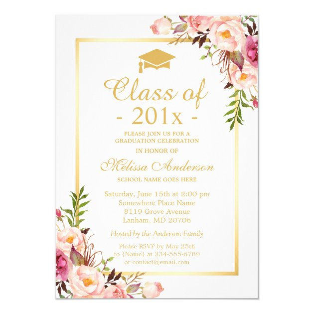 Baby Shower Invitations Floral