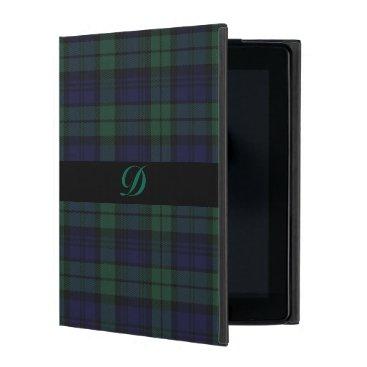 Classic Black Watch Tartan Plaid iPad Case