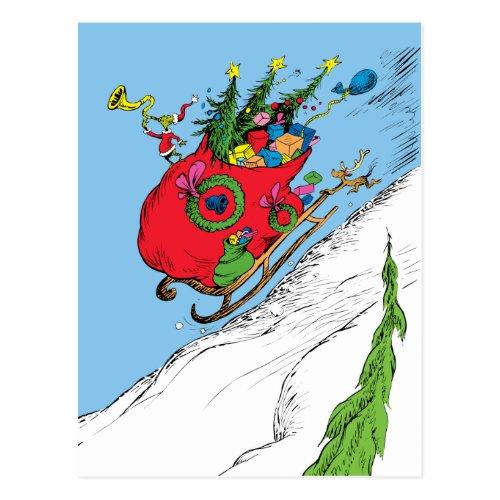 Classic Grinch | The Grinch & Max Runaway Sleigh Postcard