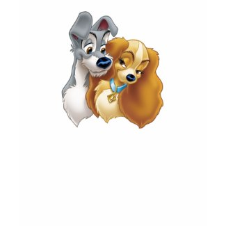Classic Lady and the Tramp Snuggling Disney shirt