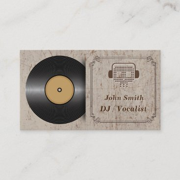 Classic Vinyl DJ Music Business Card