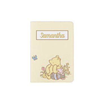 Classic Winnie the Pooh and Piglet - Name Passport Holder