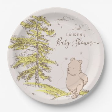 Classic Winnie the Pooh | Baby Shower Paper Plate