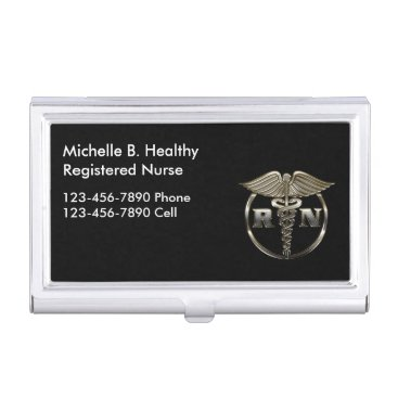Classy Nurse Medical Case For Business Cards
