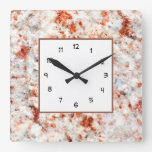 Classy Stone Marble Style Square Wall Clock