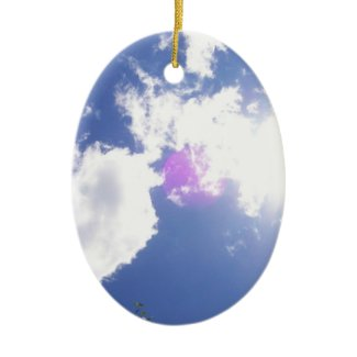 Clouds with Orb Ornament ornament