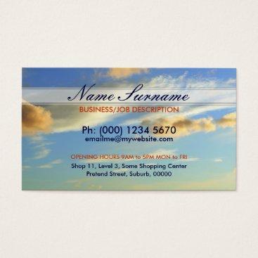 Cloudscape Sky Business Cards