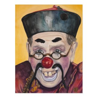 Clown Bill Gillespie AKA Be-Real-So Postcard