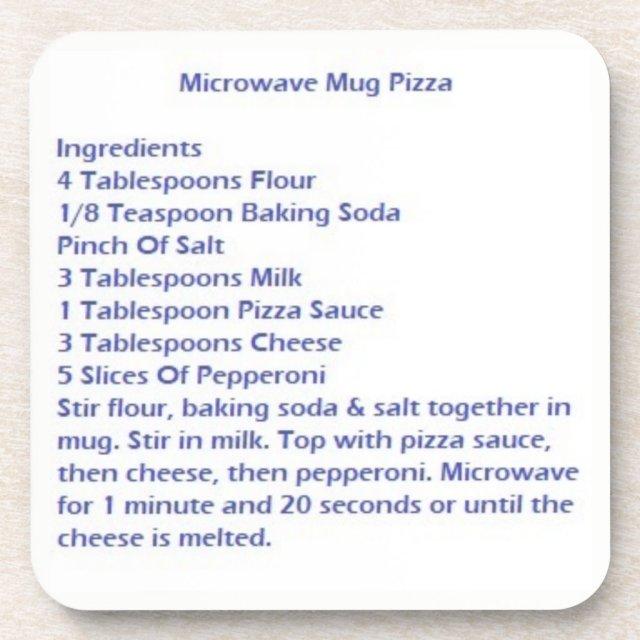 Coasters With Microwave Mug Pizza Recipe