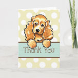 ❤️ Sweet Cocker Spaniel With Polka Dots Thank You Card