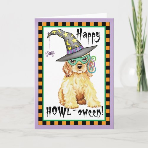 Cocker Spaniel Witch Card