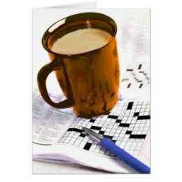 Anytime Coffee & Crossword Greeting Card