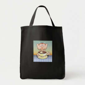 Coffee Loving Tabby Tote Bag