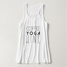 Coffee Yoga Wine | Chic Typography Tank Top