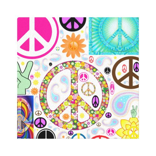 Collage of Peace Canvas Print