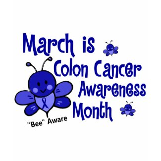 Colon Cancer Awareness Month Bee 1.3 shirt