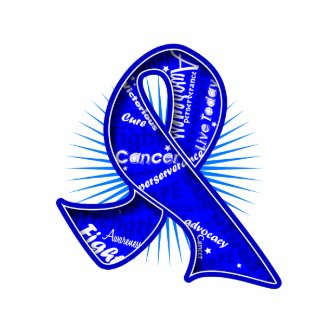 Colon Cancer Slogan Watermark Ribbon shirt