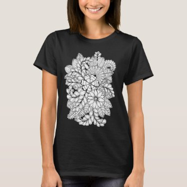 Color Me Floral Group DIY Doodle T-Shirt