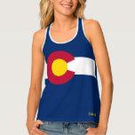 Colorado Flag Tank Top Customize Text Ad Name City
