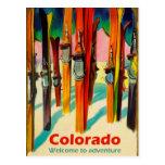 Colorado ski on snow, vintage travel postcard