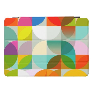 colored geometric abstract design iPad pro cover
