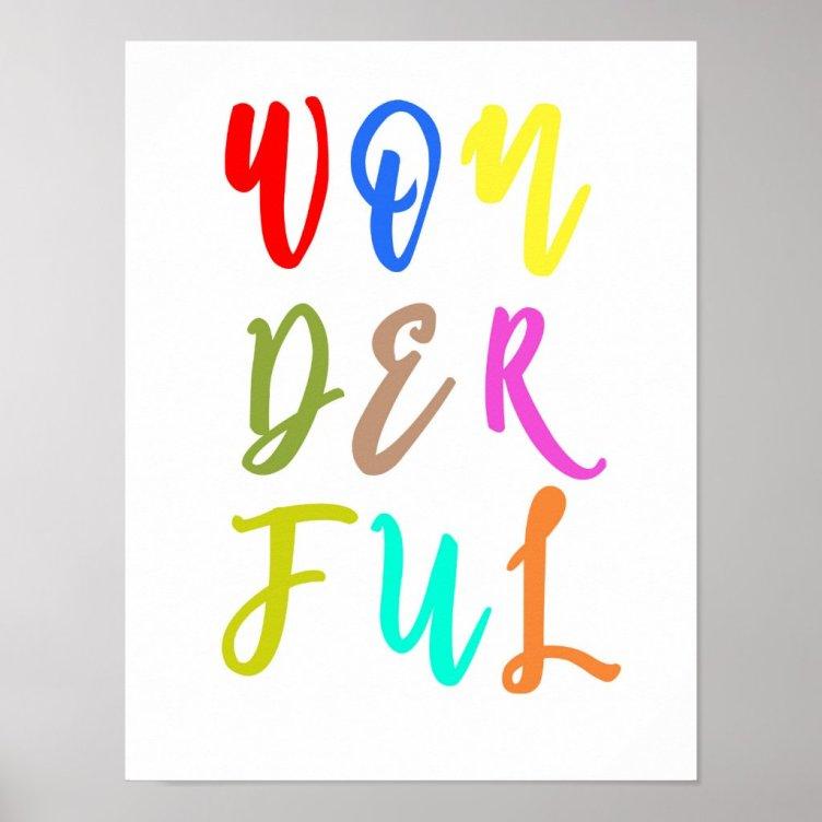 Colorful Baby Nursery Wall Art Print Poster