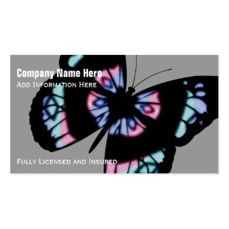 Colorful Butterfly: Business Cards