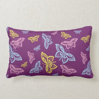 Colorful Butterfly Pattern Throw Pillows