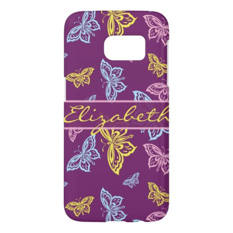 Colorful Butterfly Personalize Pattern Samsung Galaxy S7 Case