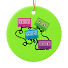 Colorful Cassette Tapes ornament