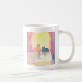 Colorful Cats on a Sunny Sofa Coffee Mug
