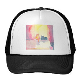 Colorful Cats on a Sunny Sofa Trucker Hat
