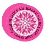 ❤️ Colorful Citrus Slice Pink Lemon Birthday Invitation